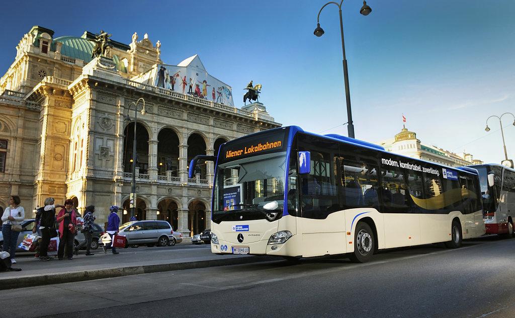 Busverbindung Baden - Wien