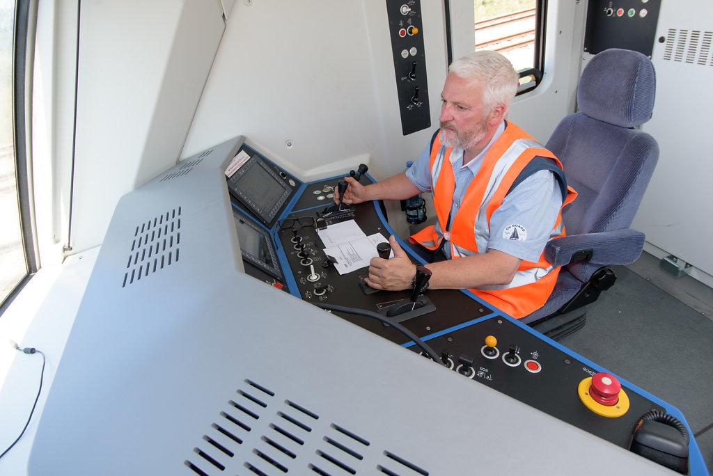Lokführer der WLB Cargo