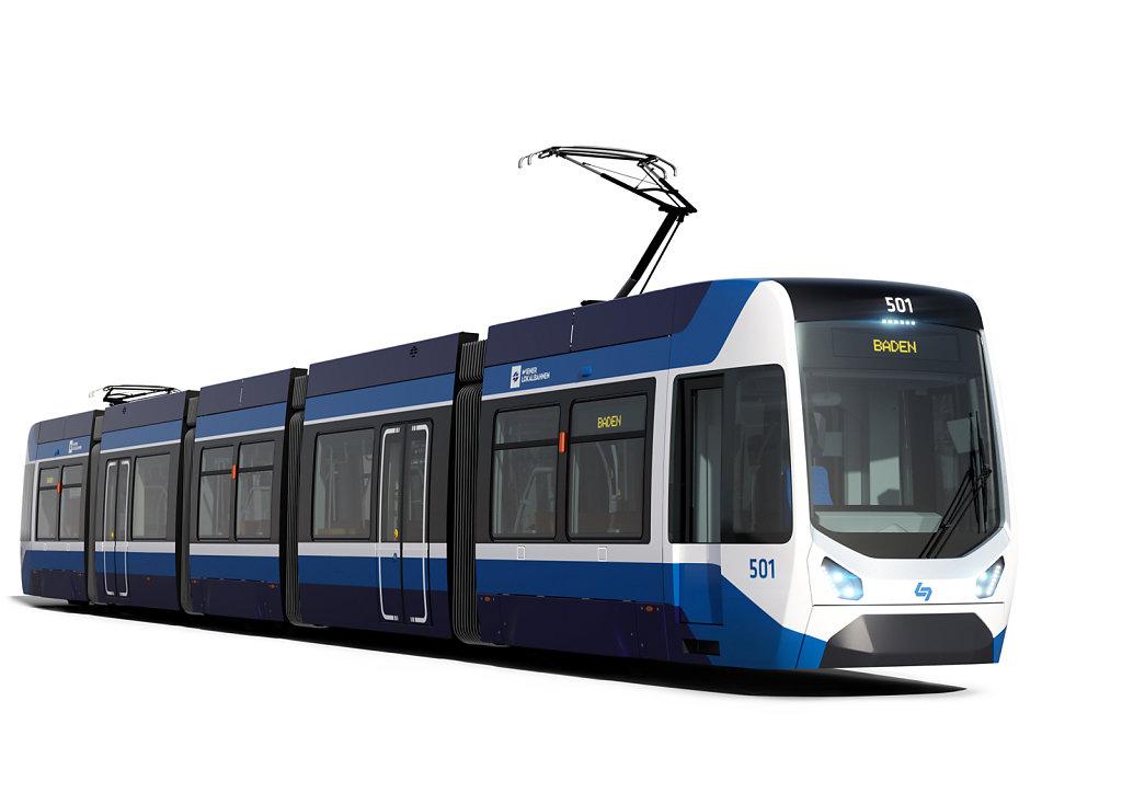 Modernes Design für neue Badner Bahn